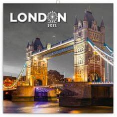 Kalendář 2021 poznámkový: Londýn, 30 × 30 cm