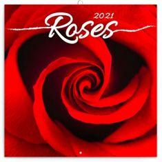 Kalendář 2021 poznámkový: Růže, voňavý, 30 × 30 cm