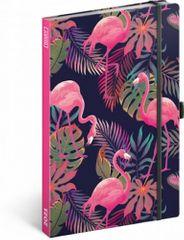 Diář 2021: Flamingos - týdenní, 13 × 21 cm