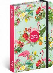 Diář 2021: Plameňáci - týdenní, 11 × 16 cm