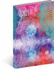 Diář 2021: Cambio Fun - Mandala - týdenní, 15 x 21 cm