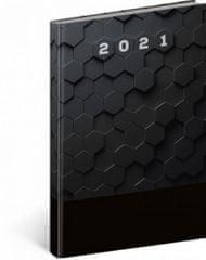 Diář 2021: Cambio Classic - černý - týdenní, 15 × 21 cm
