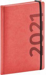 Diář 2021: Avilla - oranžovočerný - týdenní, 15 × 21 cm