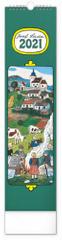 Kalendář 2021 nástěnný: Josef Lada – Na vsi, 12 × 48 cm