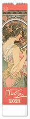 Kalendář 2021 nástěnný: Alfons Mucha, 12 × 48 cm