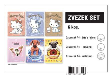 Street Assortimento zvezki, A4, za punce, 6 kosov