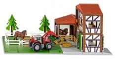 SIKU World 5609 Stadnina koni z traktorem