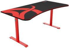 Arozzi Arena Gaming Desk, černá/červená (ARENA-RED)