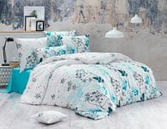BedTex posteljina Blommor. 140x200/70x90 cm, tirkizna