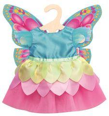 Heless haljina s leptirima za lutku, 35-45 cm