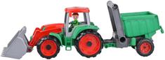LENA traktorski utovarivač Car Truxx s prikolicom, s figuricom