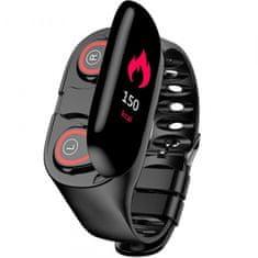 TWS M1 pametna narukvica i Bluetooth slušalica, crna