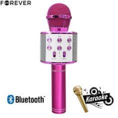 Forever BMS-300 mikrofon i zvučnik, roza