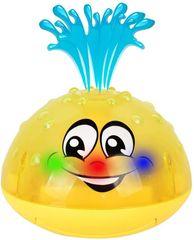 Svítící dětská fontánka - žlutá