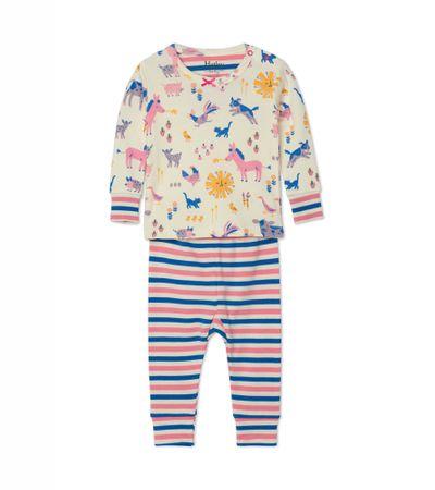 Hatley fiú pizsama, bézs, 79-84