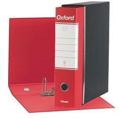 Esselte Oxford registrator, A5/80, rdeč
