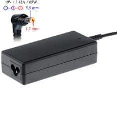 Akyga AK-ND-06 napájecí adaptér pro notebooky Acer - 19V/3.42A 65W 5.5x1.7mm konektor