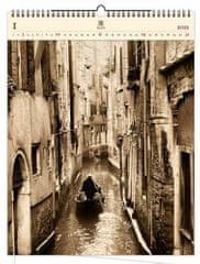 Kalendář 2021 dřevěný: Venezia, 450x590