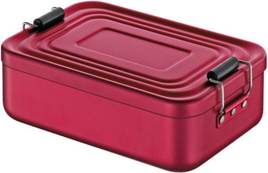 Cilio Svačinový box, aluminium, červený matný