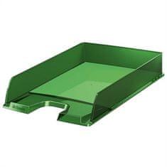 """Esselte Odkladač """"Europost"""", transparentní, zelená, plast"""