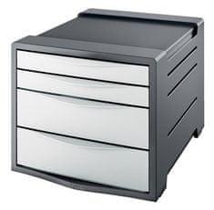 """Esselte Zásuvkový box """"Europost"""", 4 zásuvky, Vivida bílá, plast"""