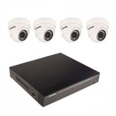 Secutek 8MP kamerový set so 4K záznamom SLG-NVR3604CDP1S800 - 4x 8MP dome kamera, NVR