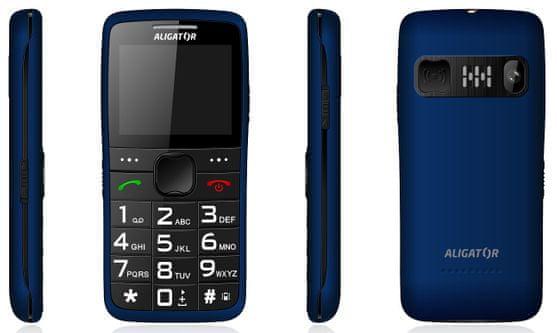 Aligator A675 Senior, mobil pro důchodce, SOS tlačítko, SOS lokátor, poloha telefonu