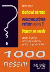 1000 riešení 9-10/2020 – Daňová strata, Odpady po novele, Pracovnoprávne vzťahy - Riešenie problémov podnikateľov po skončení pandémie