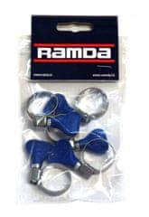 Ramda cijevne stezaljke s leptirom, inox, fi 16-25 mm, 5 komada RA 803388/5