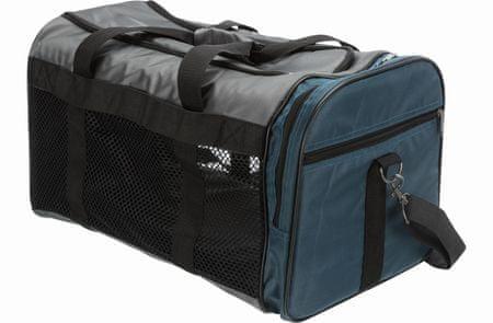 Trixie Hordozótáska SAMIRA 31x32x52, szürke/kék