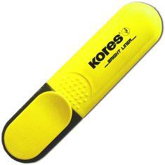 Kores Zvýrazňovač plochý žlutý