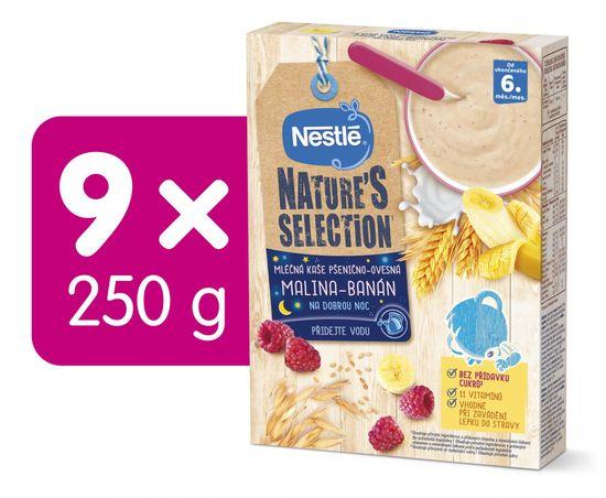 Nestlé NATURE´S SELECTION pšenično-ovesná Malina Banán (9× 250g)