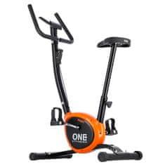 ONE Fitness mechaniczny rower treningowy RW3011 czarno-pomarańczowy
