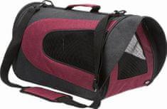 Trixie ALINA nylonová prepravná taška so sieťkou 27x27x52 cm, antracit / bordó max. 5 kg