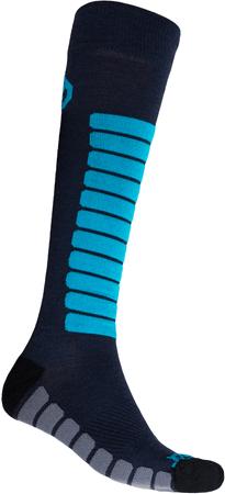 Sensor Zero Merino uniseks nogavice, temno modre/modre, 3–5