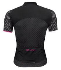 Force Dres POINTS dámský krátký rukáv - černo růžový - vel. XL
