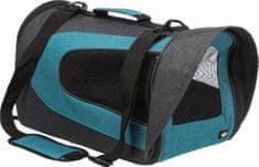 Trixie ALINA nylonová prepravná taška so sieťkou 27x27x52 cm, antracit / petrolej max. 5 kg