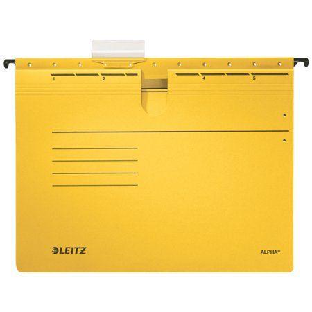 """Leitz Závěsné desky """"ALPHA®"""" s rychlovazačem, žlutá, A4, karton"""