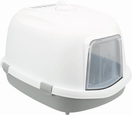 Trixie Toalett Primo XXL, fedett, 56x47x71cm, szürke/fehér