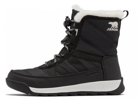 Sorel Youth Whitney II Short L Black otroški zimski čevlji, črni, 35