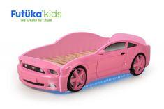 Futuka Kids Posteľ auto LIGHT + (3D LED svetlá, Spodné svetlo)