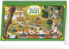 Kalendář 2021 stolní: Josef Lada – Na vsi, 23,1 × 14,5 cm