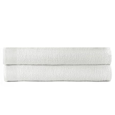 shumee 2 db fehér pamut fürdőtörölköző 450 g/m² 100 x 150 cm