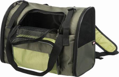 Trixie Hordozható hátizsák/táska SHIVA 41x30x21 cm, zöld