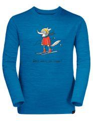 Jack Wolfskin majica za dječake Skiing Wolf Longsleeve Kids 1608831-1361