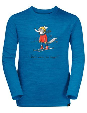 Jack Wolfskin fiú funkcionális póló SKIING WOLF LONGSLEEVE KIDS 1608831-1361, 128, kék