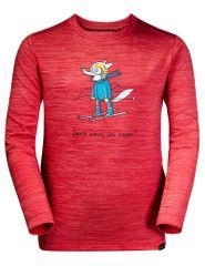 Jack Wolfskin majica za djevojčice Skiing Wolf Longsleeve Kids 1608831-2122