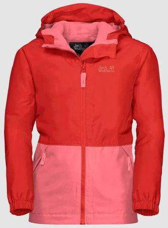 Jack Wolfskin dekliška bunda Snowy Days Jacket Kids 1607981-2681, 164, rdeča