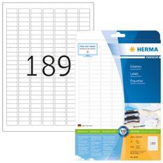 Herma Superprint 4333 etikete, A4, 25,4 x 10 mm, bele, 25 kom