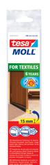 Tesa Prahová kefka tesamoll® na textil, tesnenie proti prievanu, kefka na dvere, podlahy s kobercami a medzery do 15 mm, 1m:43mm